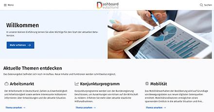 Das Dashboard Deutschland bündelt Informationen und Daten zur Bewertung der wirtschaftlichen Lage während der Corona-Krise.
