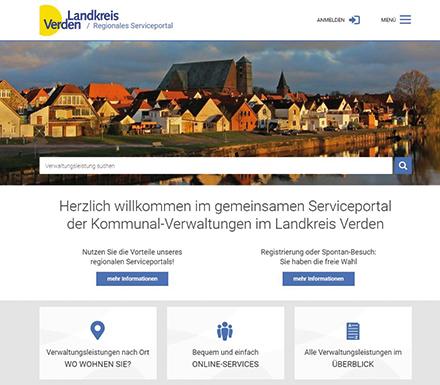 Landkreis Verden: Kreisweite Online-Services.