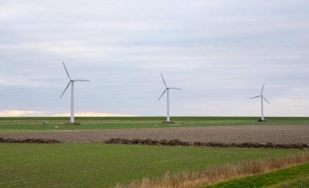 Diese Windräder sind nicht nur von Husum aus zu sehen, sondern können dort auch 600 Haushalte mit Strom beliefern.