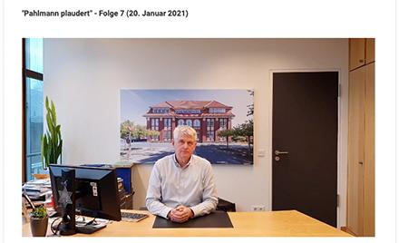 Bürgermeister Pahlmann wendet sich nun regelmäßig per Video an die Bürger von Bramsche und informiert über aktuelle Geschehnisse im Rathaus und in der Stadt.