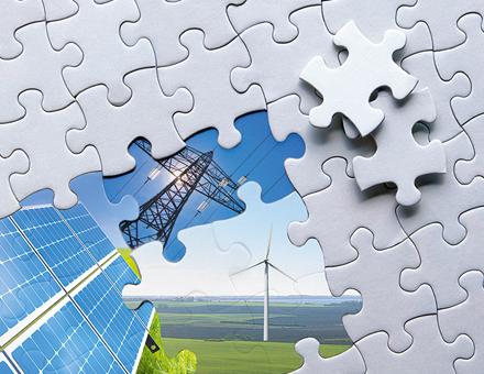 Verschiedene Bausteine können zum Erreichen der Energiewende bis 2050 führen.