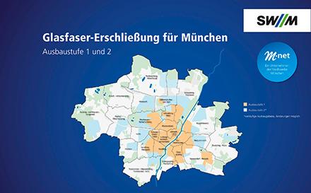Zweite Ausbauphase in München auf der Zielgeraden: 200.000 Anschlüsse wurden von den Münchner Stadtwerken (SWM) an Glasfaseranbieter M-net übergeben.