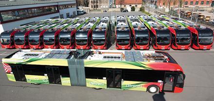 Osnabrück setzt im Nahverkehr voll auf Elektrobusse.