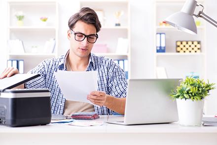 Drucker und Scanner sind auch im Homeoffice wichtige Arbeitsmittel.