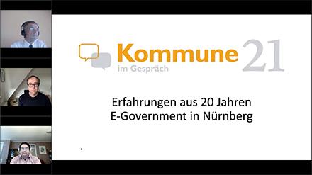 Im ersten Kommune21 Webinar rückte die Erfolgsgeschichte der Stadt Nürnberg in den Fokus.