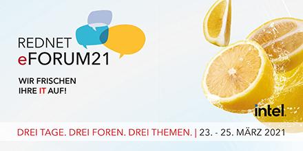 Unter anderem Live-Foren mit Experten aus der Praxis bietet das diesjährige Rednet eForum21.