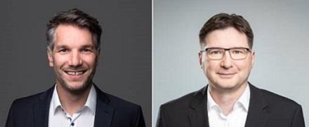 Arbeiten zusammen: Markus Probst, Vertriebsleiter Energie von Kisters (links) und Volker Kruschinski, Vorstandsvorsitzender von Schleupen.