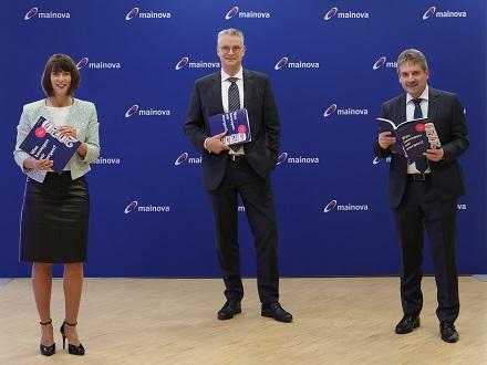 Der Mainova-Vorstand mit dem Geschäftsbericht 2020.