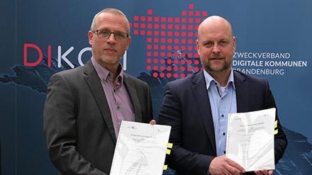 DIKOM und Deutsche Telekom Business Solutions besiegeln ihre Zusammenarbeit.