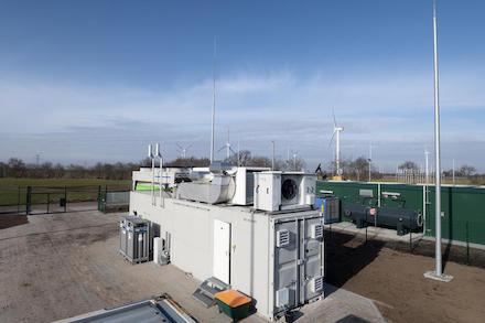 Windgas-Elektrolyseur in Haurup.