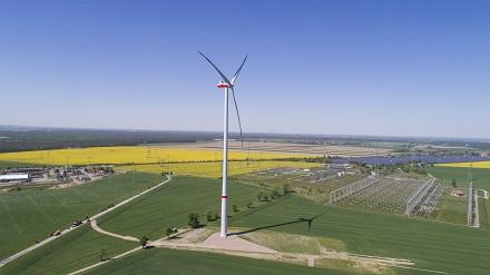 Blick auf den Windpark Streumen.