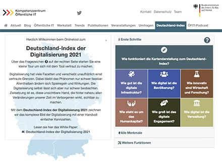 40 Prozent der Befragten haben im Jahr 2020 mindestens ein digitales Verwaltungstool benutzt – so ein Ergebnis des Deutschland-Index von BMI und ÖFIT.