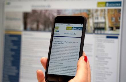 Neuer Internet-Auftritt des Ausländeramts der Stadt Münster.