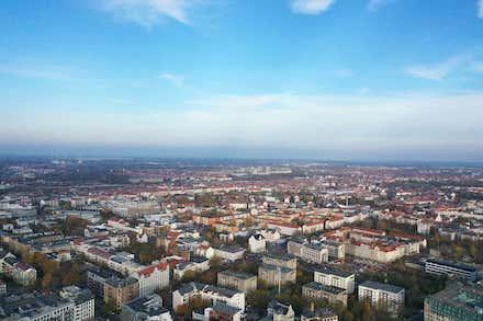 Leipzig aus der Drohnenperspektive.
