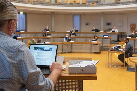 Schulung zum digitalen Sitzungsdienst in Rüsselsheim am Main.