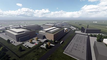 Hanau: So könnte das ehemalige Kasernengelände künftig aussehen und Platz für eine nachhaltige Versorgung bieten.