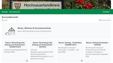 Das Service-Portal der Bauaufsicht des Hochsauerlandkreises.