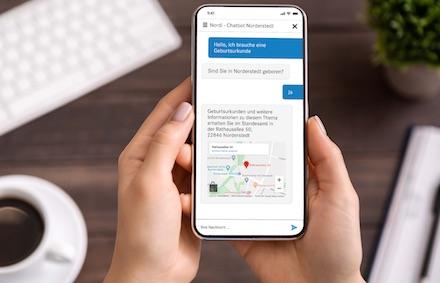 Chatbot Nord ist auch mobil zu erreichen.