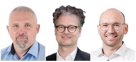 Henry Georges, LKA Hamburg, Michael Gröber, D-TRUST, und Stefan Cink, Net at Work (v.l.), sind Referenten beim zweiten Webinar-Tag der Initiative Sicherer Bürgerdialog.