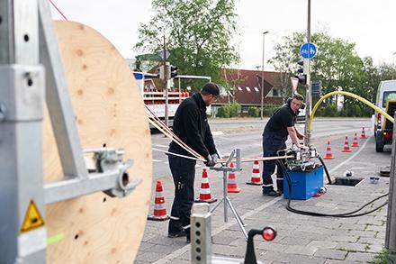 Seit 2018 befindet sich das Glasfasernetz in Emden im Ausbau.