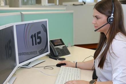 Rund 70 Prozent aller Anrufe waren im Kasseler Service-Center im Jahr 2020 115-Anrufe.