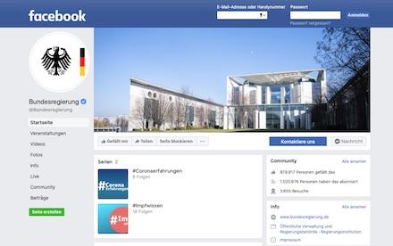 Weil ein datenschutzkonformer Betrieb der Fanpage nicht möglich ist, soll die Bundesregierung ab 2022 nicht mehr auf Facebook aktiv sein.