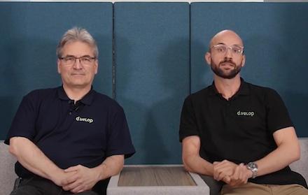 Michael Bußmann (l.) und Philipp Perplies sind jetzt Geschäftsführer der d.velop public sector GmbH.
