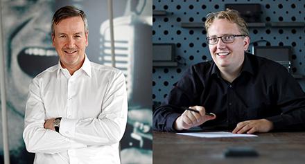 Richard Goerlich (links) und Fabian Ziegler sind die Vorsitzenden des neu gewählten Digitalrats der Stadt Augsburg.