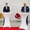 Uwe Wedig, Vorstandsvorsitzender HGK; Marco Richrath, General Manager Shell Energie and Chemicals Park Rheinland; Dieter Steinkamp, Vorstandsvorsitzender RheinEnergie (v.l.) bei der Vertragsunterzeichnung.