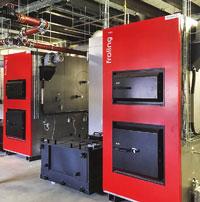 Biomasse-Heizkessel bilden das Rückgrat des Moosburger Versorgungskonzepts.