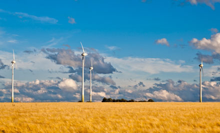 Windkraftanlage in Ebersheim.