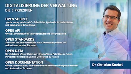 Christian Knebel empfiehlt, in der Verwaltung alle von der digitalen Transformation Betroffenen frühzeitig und umfassend einzubinden.