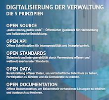 Fünf Prinzipien der Verwaltungsdigitalisierung dienen auch der digitalen Souveränität.