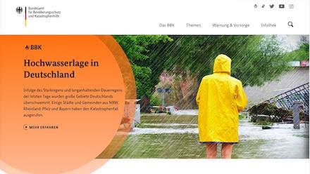 Der neue Web-Auftritt des Bundesamts für Bevölkerungsschutz und Katastrophenhilfe (BBK) ist online.