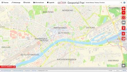 Das Frankfurter Geoportal wartet mit kostenfreien Karteninformationen sowie Open-Data-Angeboten auf.