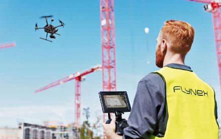 Drohnenflug für die Future City.