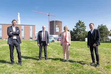 Der neue Speicher der Stadtwerke Rostock kann 45 Millionen Liter Wasser aufnehmen.