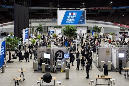Der VKU-Stadtwerkekongress 2021 findet als Präsenzveranstaltung in der Dortmunder Westfalenhalle statt.