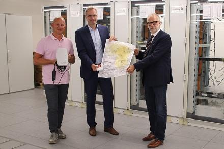 Baustein für die smarte Stadt: Präsentation der neuen LoRaWAN-Technik im Hertener Stadtgebiet.