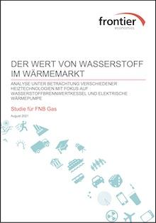 """Die Studie """"Der Wert von Wasserstoff im Wärmemarkt"""" wurde vom Unternehmen Frontier Economics im Auftrag der FNB Gas durchgeführt."""