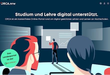 Landesportal Orca.nrw soll die Entwicklung von digitalen Lehr- und Lernszenarien fördern.