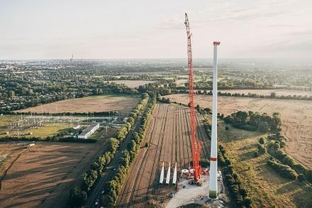 Berlin hat nunmehr sechs Windanlagen im Stadtgebiet.