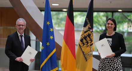 Das neue Führungsduo der Cybersicherheitsagentur Baden-Württemberg