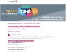 """Informationsreihe """"meetup express"""" von Cortility."""