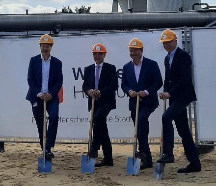 Spatenstich für die PtH-Anlage in Wedel.