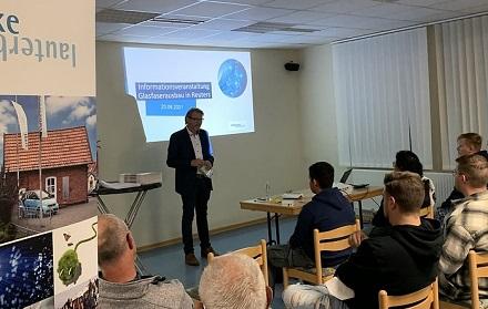 Großes Interesse herrschte bei der Info-Veranstaltung zum Glasfaserausbau im Lauterbacher Stadtteil Reuten.