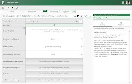 Screenshot aus der Kasaia-Software.