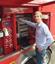 Fabian von Frankenberg, Vertriebsleiter der POLYMA Energiesysteme GmbH
