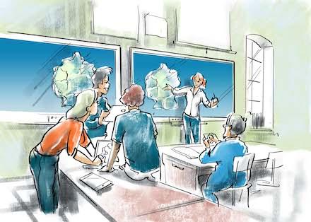 Schüler mit den Werkzeugen der digitalen Bildung für die neue Welt rüsten.