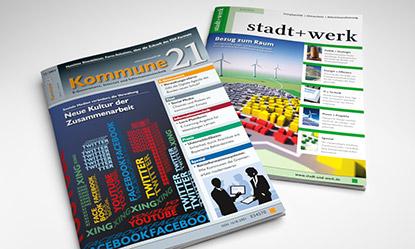 Fachzeitschrift Kommune21 und stadt+werk